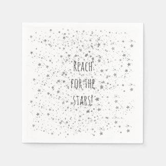 Guardanapo De Papel Estrelas de prata personalizadas