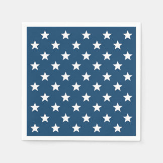 Guardanapo De Papel Estrelas do Dia da Independência no branco em
