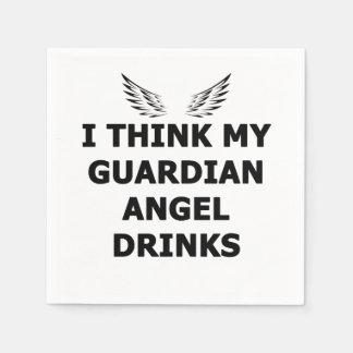 Guardanapo De Papel Eu penso minhas bebidas do anjo-da-guarda