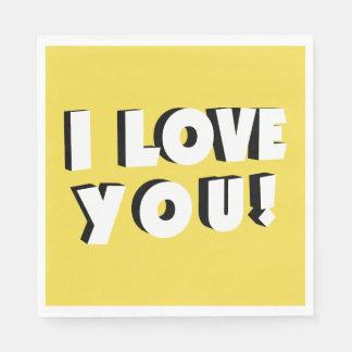 Guardanapo De Papel Eu te amo!