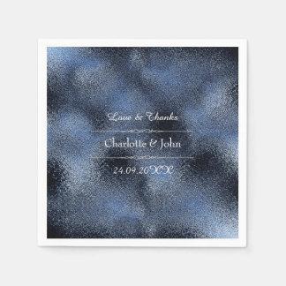 Guardanapo De Papel Evento de vidro do casamento do marinho azul