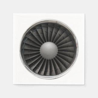Guardanapo De Papel Fã da turbina do motor de jato