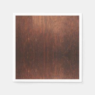 Guardanapo De Papel Falso de Brown escuro de madeira