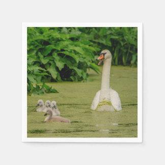 Guardanapo De Papel Família da cisne