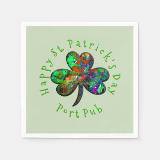 Guardanapo De Papel Família ou negócio do dia de St Patrick feliz