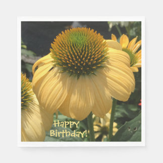 Guardanapo De Papel Feliz aniversario do Echinacea
