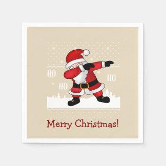 Guardanapo De Papel Feliz Natal de toque ligeiro engraçado de Papai