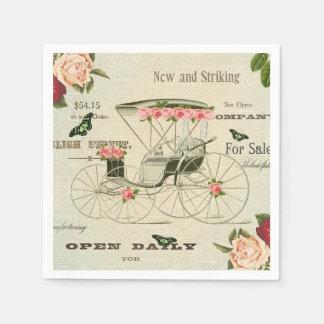 Guardanapo de papel femininos do victorian do