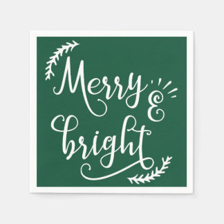 Guardanapo De Papel feriado alegre e brilhante do Natal