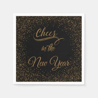 Guardanapo De Papel Feriados - elogio no brilho do ouro do ano novo