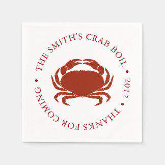 Guardanapo De Papel Fervura do marisco do caranguejo | personalizada