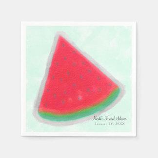 Guardanapo De Papel Festa de aniversário da aguarela da melancia