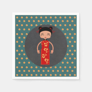 Guardanapo De Papel Festa de aniversário da menina de China