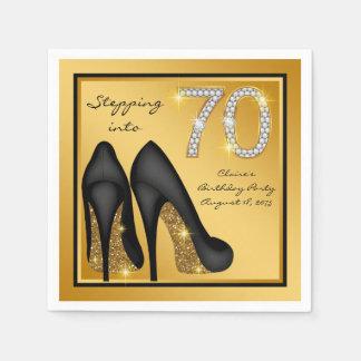 Guardanapo De Papel Festa de aniversário do 70 da mulher