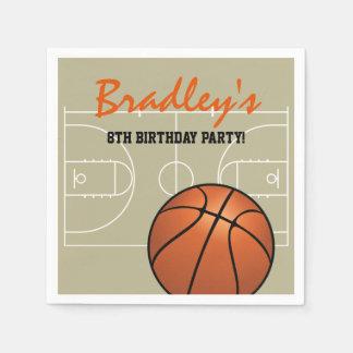 Guardanapo De Papel Festa de aniversário do basquetebol dos miúdos