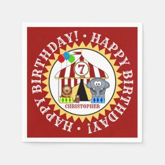 Guardanapo De Papel Festa de aniversário do carnaval do circo