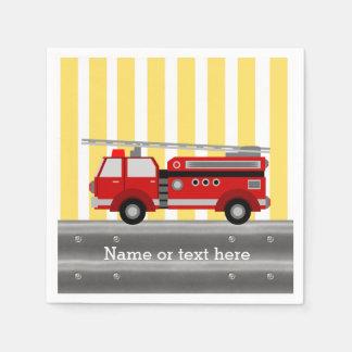 Guardanapo De Papel Festa de aniversário do carro de bombeiros