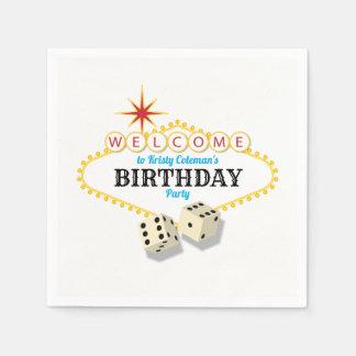 Guardanapo De Papel Festa de aniversário do famoso de Las Vegas