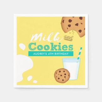 Guardanapo De Papel Festa de aniversário dos biscoitos do leite e dos