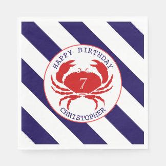 Guardanapo De Papel Festa de aniversário náutica do caranguejo