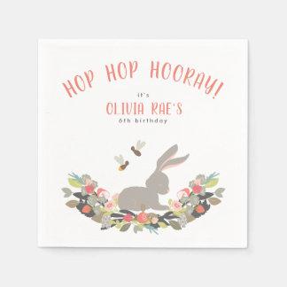 Guardanapo De Papel Festa de aniversário personalizada do coelho de