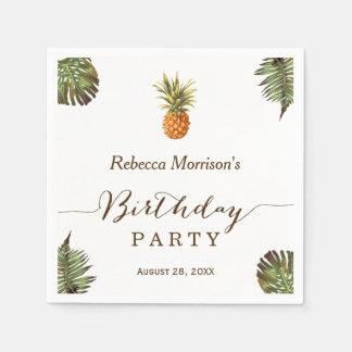 Guardanapo De Papel Festa de aniversário tropical do verão do abacaxi