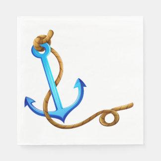 Guardanapo De Papel Festa de casamento azul de turquesa da âncora