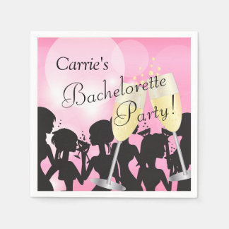 Guardanapo De Papel Festa de solteira cor-de-rosa - noite das meninas
