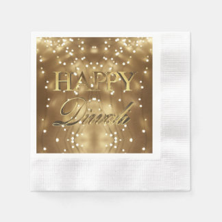 Guardanapo De Papel Festival feliz de Diwali da tipografia do ouro das