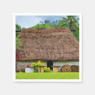 Guardanapo De Papel Fijian tradicional Bure, vila de Navala, Fiji