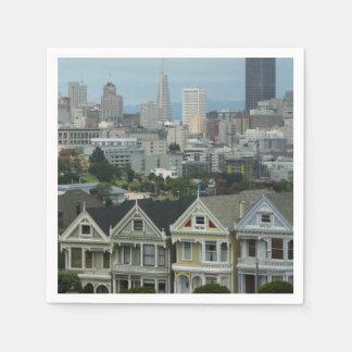 Guardanapo De Papel Fileira do cartão de San Francisco