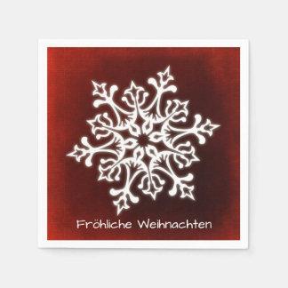 Guardanapo De Papel Floco de neve branco na obscuridade - Fröhliche