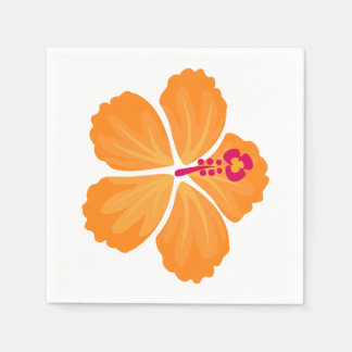 Guardanapo De Papel Flor alaranjada do hibiscus