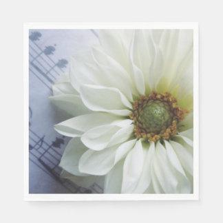 Guardanapo De Papel Flor branca na música