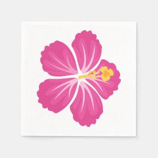 Guardanapo De Papel Flor cor-de-rosa do hibiscus