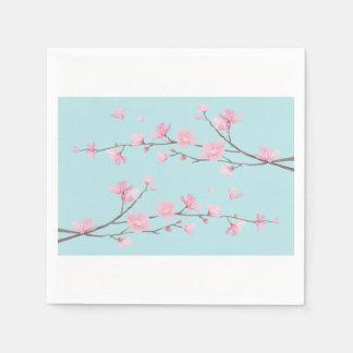 Guardanapo De Papel Flor de cerejeira - azul-céu