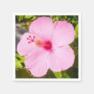 Guardanapo De Papel Flor tropical do hibiscus cor-de-rosa