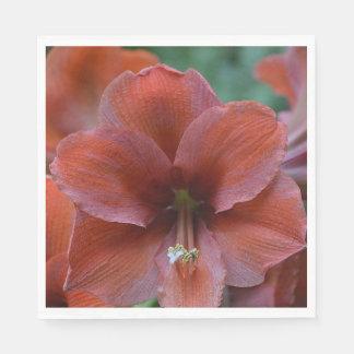 Guardanapo De Papel Flor tropical vermelha