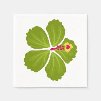 Guardanapo De Papel Flor verde do hibiscus