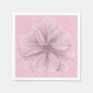 Guardanapo De Papel Floral cor-de-rosa bonito