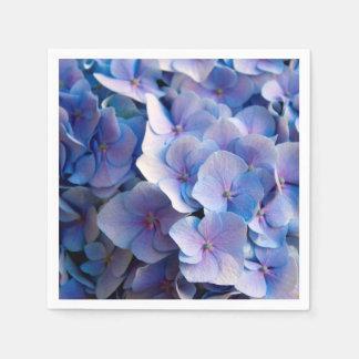 Guardanapo De Papel Flores azuis bonitas do Hydrangea