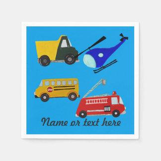 Guardanapo De Papel Fogo, caminhão da areia, auto escolar e