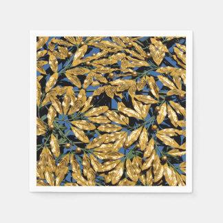 Guardanapo De Papel Folhas do louro do ouro