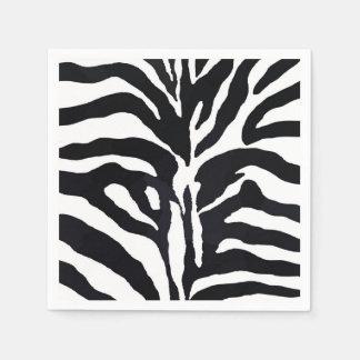 Guardanapo De Papel Forma preto e branco do animal da selva da zebra