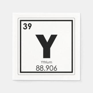Guardanapo De Papel Fórmula da química do símbolo do elemento químico
