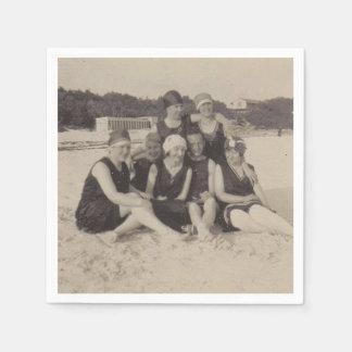 Guardanapo De Papel Fotografia 1920 do vintage do grupo de praia