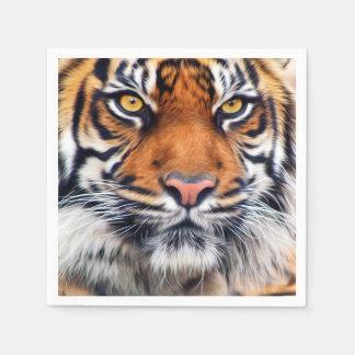 Guardanapo De Papel Fotografia masculina da pintura do tigre Siberian