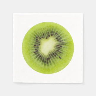 Guardanapo De Papel Fruta de quivi fresca. Close up redondo da fatia