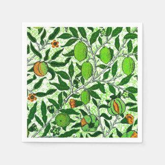 Guardanapo De Papel Fruta exótica de William Morris, verde limão