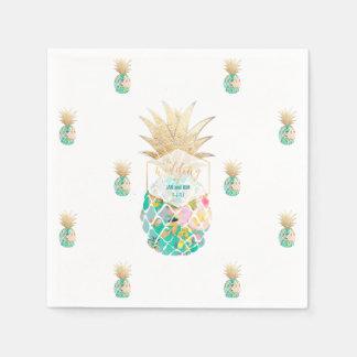 Guardanapo De Papel Fundo de PixDezines Aloha Pineapples/DIY